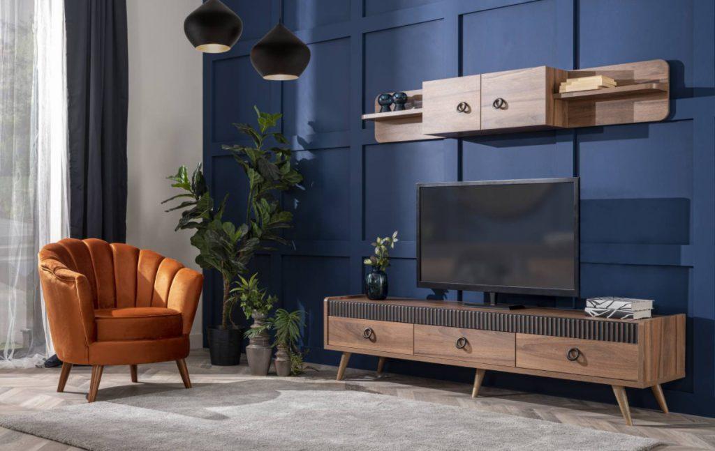 tv unitesi dekorasyon objeleri